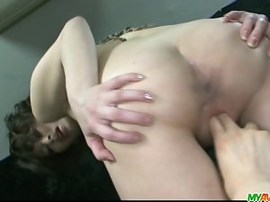 Porn star saki Ootsuka slit caressed to orgasm