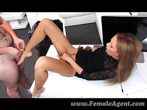 FemaleAgent - bad santa gets a great foot job