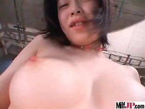 Asian Jap Buxom Bitch Cougar Get Dirty Nailed movie-12
