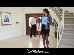 PureMature couple fuck perfect estate broker