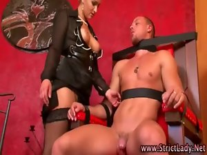 Stockings fetish domina loves to punish