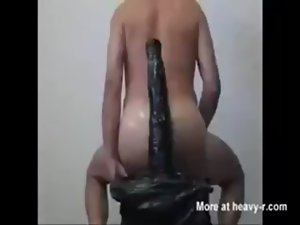 15 inch fake penis in bum
