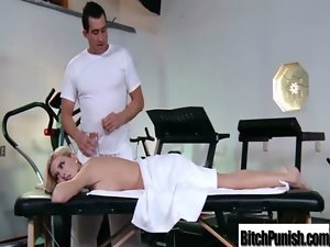 Masseur Banging Wild Buxom Attractive Whore Client movie-35