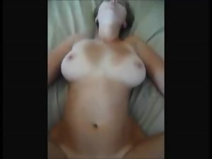 Big boobed dirty wife banged on natural homemade