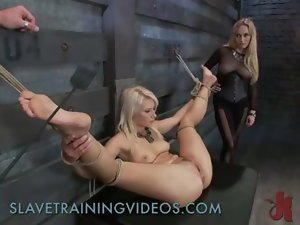Bondage light-haired gets fist of her mistress