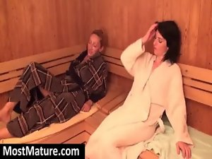 experienced ladies bare in sauna