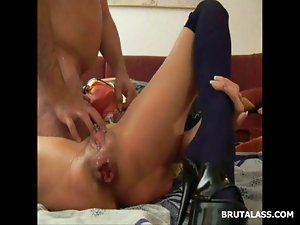 Once narrow dirty ass being fisted until a squirting prolapse
