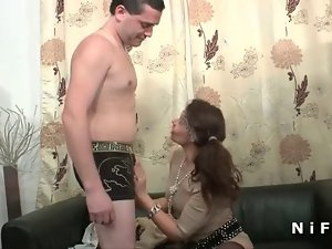 Tiny titted french dark haired wild fucked