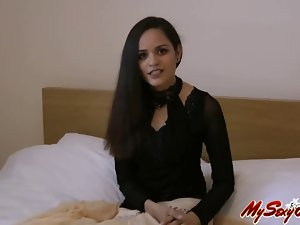 sensual indian perfect pornstar slutty girl jasmine giving her introduction