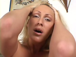 BBC DP for a big titted blondie Mum