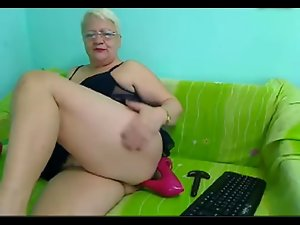 54yr aged Attractive mature Teacher Stiletto Heel Rectal Play on Cam