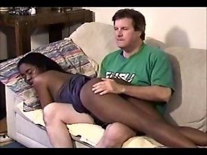 19 years old ebony cutie with experienced white bloke