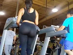 big naughty bum at gym