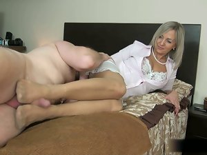 Sexu Slutty wife Pantyhose Footob 6