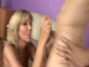 Randy blondie Filthy bitch pleasing her husband
