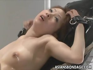 Sensual japanese slutty girl bond and filled