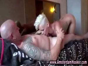 Tempting blonde euro tart strokes off tourist