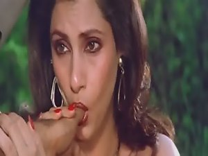 Sensual Seductive indian Actress Dimple Kapadia Stroking Thumb lustfully Like Shaft
