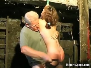 Wild filthy bitch delights in brutal spanking
