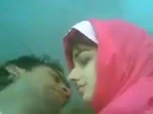 so Attractive Pakistani hijab Couple Kissing
