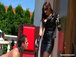 Bdsm fetish femdom enjoying domina