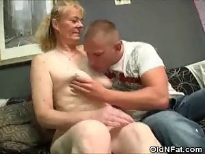 Bushy Cunt Granny Stripped And Dick Caresses