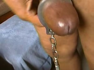 Thick Monster Pecker Handcuffed