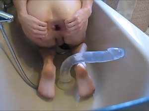 bathtub fist bad dragon deep rubber toy cum
