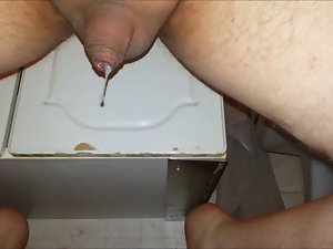 Milking and eating cum!