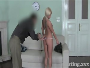 Casting HD Blondie can&#039_t wait for asshole