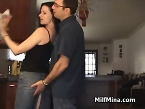 Amateur Filthy bitch Mina Screwed in Kitchen