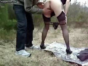 Submissive experienced dirty wife used by stranger