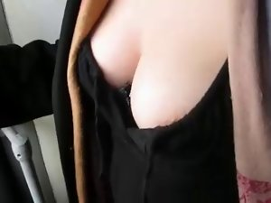 cleavage,, filthy tits,, downblouse on bus