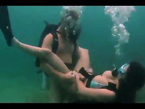Scuba Diving Couple Having Sex Underwater