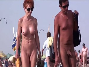 French nudist beach Cap d'Agde people walking naked 07