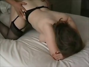 Lewd cougar on passionate homemade sextape