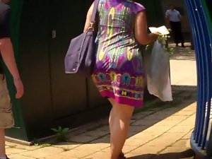 Latina Naughty bum In Summer Dress Butt Culo