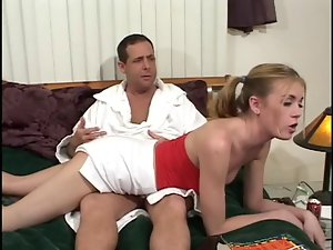 Wild Step-Daughter Spanked & Fucked!