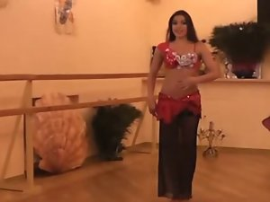 Alla Kushnir gives luscious Belly Dance Lessons part 2
