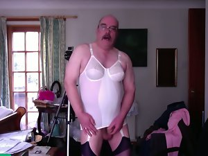 wanking in girdle
