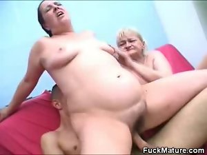 Pecker Pumping Two Attractive mature Honeys