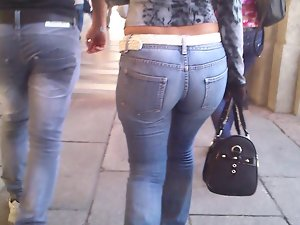 stiff jeans dirty ass young lady