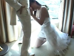 Seductive japanese Tgirl Bangs New Husband After Wedding