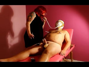 Slave Smoking, Pecker Pumping & Whipping BDSM