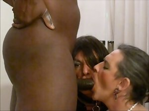 Two vixen trannies getting banged by BBC
