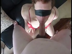 Blindfolded submissive