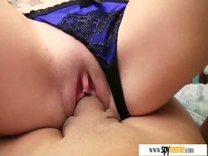 Sex Activity Film By Voyeur With Tempting Sensual Amateur Lassie clip-26