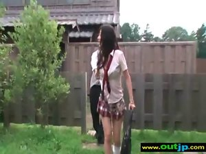 Attractive Asian Girlie Love To Have Wild Sex Outdoor clip-19