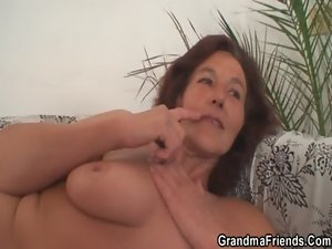 Grandma delights two 19 years old penises