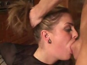 seductive young lady gets throat banged the rough way